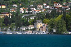 Luxury homes on Lake Como Stock Photo