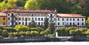 Luxury homes on Lake Como Royalty Free Stock Image
