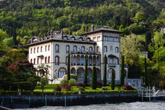 Luxury homes on Lake Como Royalty Free Stock Images