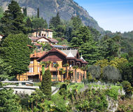 Luxury homes on Lake Como Stock Photography