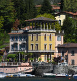 Luxury homes on Lake Como Stock Images