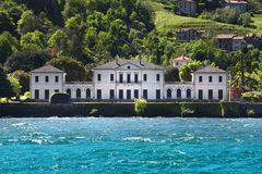 Luxury homes on Lake Como Royalty Free Stock Photography