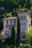 Luxury homes on Lake Como Royalty Free Stock Photo