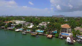Luxury homes in Miami Beach stock footage