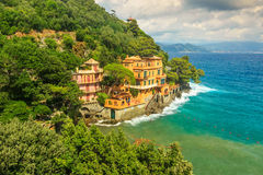 Luxury homes near Portofino,Liguria,Italy,Europe Stock Image