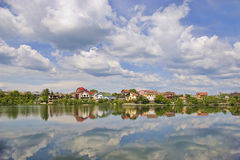Luxury homes reflected Royalty Free Stock Photos