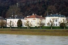 Luxury Homes, Salzburg, Austria Stock Photo