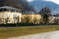 Luxury Homes, Salzburg, Austria Royalty Free Stock Image
