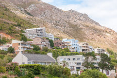 Luxury homes in the shade of the Hottentots-Holland Mountains Stock Photo