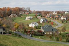 Free Luxury Homes: Upscale Houses, Fall Season Royalty Free Stock Image - 7225886