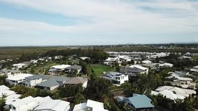 Coomera gold coast queensland australia uppper marker area. Luxury homes and water front at Coomera gold coast Queensland Australia stock video