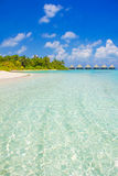 Luxury Honeymoon Resort in The Maldives, Eden on Earth stock photography