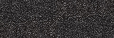 luxury horizontal black leather texture for pattern and backgrou Stock Image