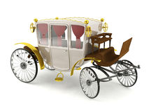 Luxury horse carriage isolated on white background Stock Photo