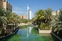 Luxury hotel. Burj Al Arab, Dubai. Consistently voted the world's most luxurious hotel Stock Photo