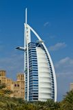 Luxury hotel. Burj Al Arab, Dubai. Consistently voted the world's most luxurious hotel Royalty Free Stock Images