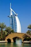 Luxury hotel. Burj al arab, united arab emirates, view from madinat jumeirah Royalty Free Stock Photos