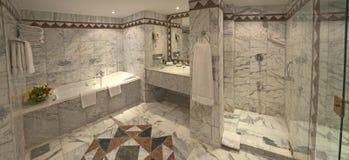 Luxury hotel bathroom suite Stock Photos
