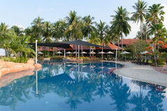 Luxury hotel on the beach Stock Images