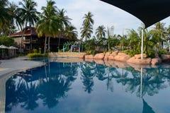 Luxury hotel on the beach Stock Photo