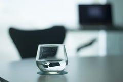 Luxury hotel bedroom glass Royalty Free Stock Photo
