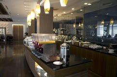 Luxury hotel buffet restaurant Stock Images