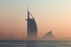 Luxury Hotel Burj Al Arab in Dubai Stock Images