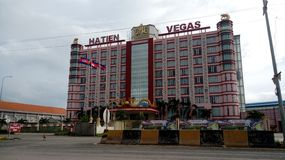 A luxury hotel and casino in Ha Tien, Vietnam stock photos