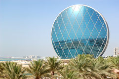 The luxury hotel and circular building Stock Images