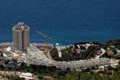 Luxury hotel on coastline Royalty Free Stock Images