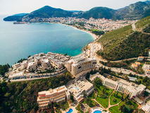 Luxury hotel complex Dukley in Budva, Montenegro. Shooting with. The drone, aerial Stock Photography