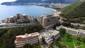 Luxury hotel complex Dukley in Budva, Montenegro. Shooting with. The drone, aerial