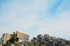 Luxury hotel complex Dukley Gardens in Budva, Montenegro. Large Royalty Free Stock Image