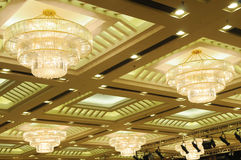 Luxury hotel conference room ceiling Stock Image
