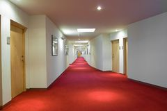 Luxury Hotel Corridor Stock Image