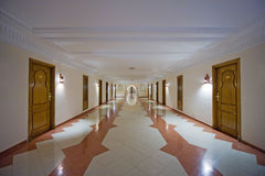 Luxury hotel corridor Royalty Free Stock Image