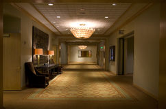 Luxury hotel corridor  Royalty Free Stock Images