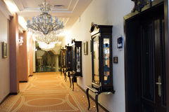 Luxury hotel corridor Stock Image