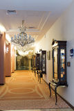 Luxury hotel corridor Stock Photo