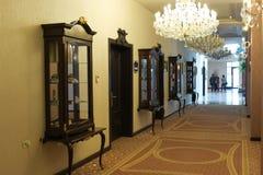 Luxury hotel corridor Royalty Free Stock Images