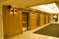 Luxury hotel corridor Stock Images