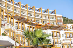 Luxury hotel exterior in Bodrum,Turkey Royalty Free Stock Photo