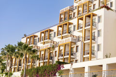 Luxury hotel exterior in Bodrum,Turkey Stock Photo