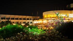 Luxury hotel exterior in the night Stock Photos