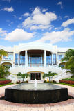 Luxury hotel. A luxury hotel with a fountain royalty free stock photos
