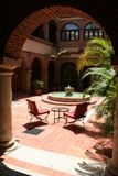 Luxury hotel garden Royalty Free Stock Images