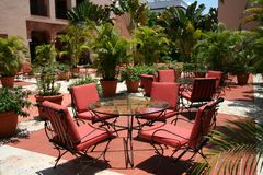 Luxury hotel garden Stock Photography