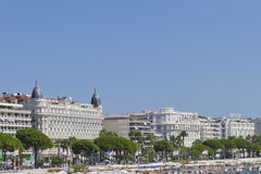 Luxury hotel InterContinental Carlton Cannes Stock Photos