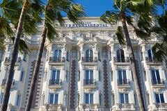 Luxury hotel InterContinental Carlton in Cannes Royalty Free Stock Image