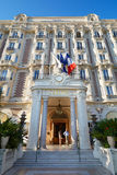 Luxury hotel InterContinental Carlton facade in Cannes Stock Photos